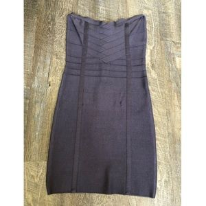 Strapless bodycon dress from bebe